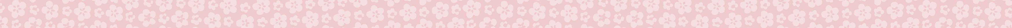 pink banner with cherry blossom print scrolling a long way to the right!